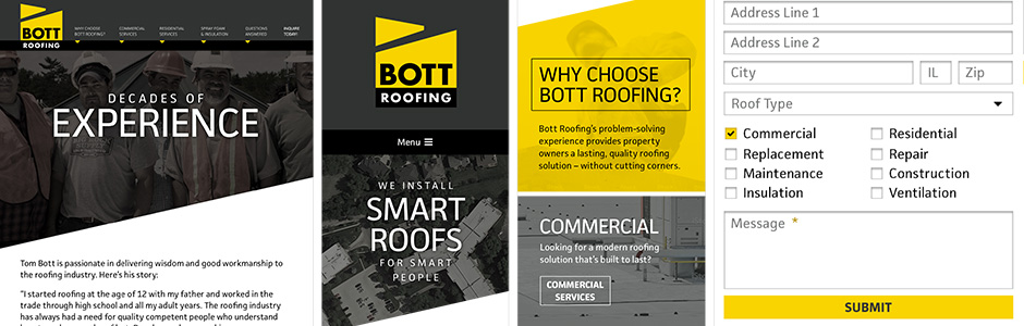 Bott Roofing Site Redesign