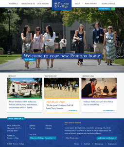 Pomona Homepage Design