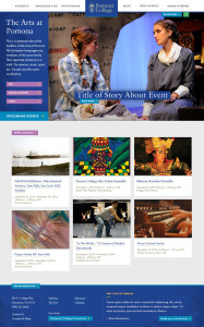 The Arts @ Pomona Landing Page