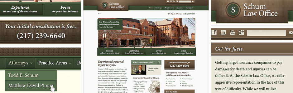 Schum Law Office Website Redesign