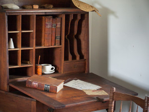 Old-timey writing desk