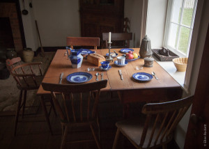 Civil War breakfast table