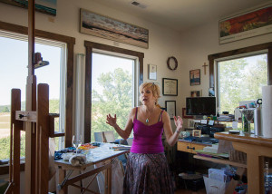 Joli Ayn Wood in her studio
