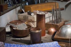 Metalworking tools at Colonial Williamsburg